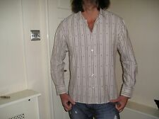 PETER WERTH SMART STRIPED FITTED LONG SLEEVE SHIRT SIZE 4 ( LARGE )