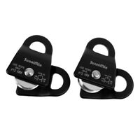 2x 20KN Climbing Arborist Mobile Pulley for 12mm Rope Rigging Rescue Lifting