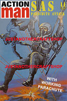 Action Man SAS Parachute Attack Large A3 Size Poster Advert Sign Leaflet 1983