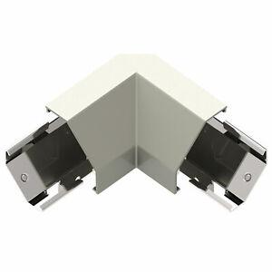 Legrand adorne Under-Cabinet Modular Track Corner Connector in Titanium, APCCTM4