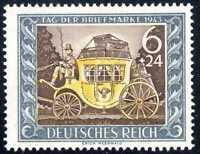1943 Germany Nazi Third Reich Swastika Deutsch SC#B215 SP186 MLH OG