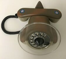 Vintage 70s nt Military Alexander Graham Plane Rotary Dial Telephone For Repair