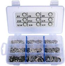 "StainlessTown Stainless Internal Star Lock Washer Assort Kit Sizes #4 to 1/2"""