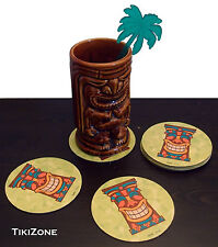 50 Pack of Tropical Luau Tiki Bar Coasters - Parrothead Novelty Barware