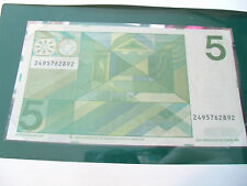 Banknotes of All Nations Netherlands 5 gulden 1973 P 95 UNC 2495