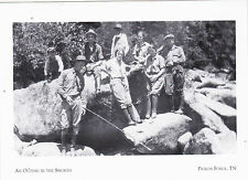 """+PC-Postcard-""""Outing In The Smokies"""" -8 People, 1924- /Pigeon Forge, TN/ (A23-3)"""