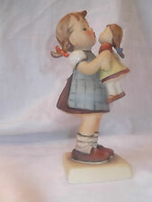 HUMMEL KISS ME ~ Goebel Figurine #311 Trademark 5 ~ Excellent ~ Girl with Doll