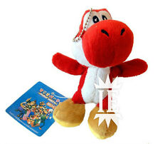 SUPER MARIO BROS. YOSHI ROSSO PELUCHE PORTACHIAVI plush keychain red doll new ds