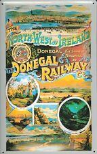 Donegal Railway Ireland Blechschild Schild 3D geprägt Metal Tin Sign 20 x 30 cm
