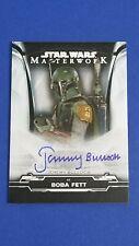 Jeremy Bulloch as Boba Fett - 2019 Star Wars Masterwork Foil Autograph  #1/50