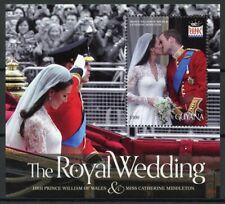 Guyana Royalty Stamps 2011 MNH Royal Wedding Prince William & Kate 1v S/S