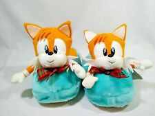 """SEGA Sonic Tails Miles Prower Plush Shoes Slippers Unused TAG Christmas Gift 9""""L"""