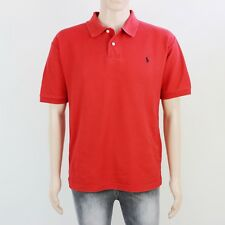 Ralph Lauren Mens Size L Slim Fit Red Short Sleeve Polo Shirt Top