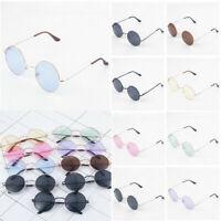 Hippie Style Colorful Round Circle Sunglasses Vintage Creative Glasses Eyewear-