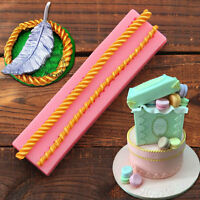 Diy Long Rope Fondant Silicone SugarCraft Cake Decorating Baking Mat Mould Tools