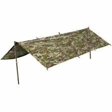 Kombat Military Basha Waterproof Tarp Nylon Shelter BTP Camo 2.5m X 1.7m Sheet