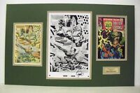 Org. Production Art STRANGE TALES #157 pg.5, matted, signed by JIM STERANKO