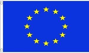 EU FLAG LARGE 5 x 3 ft EUROPE EEC EUROPEAN STARS NATIONAL BANNER BRASS EYELETS