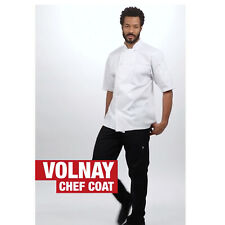 ✅ Chef Works: Volnay Chef Coat White Size Small S (Flexible)