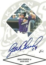 2004 Akron Aeros RYAN CHURCH Signed Card autograph NATIONALS INDIANS RC
