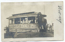 1907 RPPC CHERRELYN HORSE CAR UNUSED ORIGINAL OLD PHOTO POSTCARD *SALE* PC6951