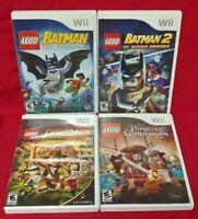 Nintendo Wii & Wii U LEGO Game Lot Pirates Carribean Indiana Jones, Batman 1 + 2