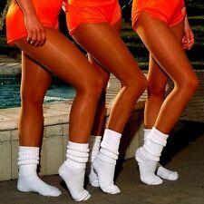 Q Peavey Suntan Pantyhose Slouch Socks for Hooters Uniform Holiday Lingerie