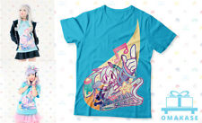 OFFICIAL OMAKASE Hatsune Miku Vocaloid HappyMappy Blue T Shirt Anime Large L