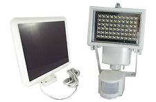 White 60 LED Outdoor Solar Power Motion Sensor Security Light - Weatherproof