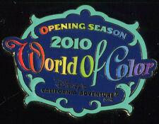 DLR 2010 Annual Passholder World of Color Opening Season Disney Pin 77832