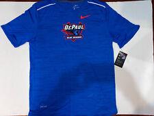 Nike Blue DePaul Athletics Drily Breathe Player Short Sleeve Size Mens Large
