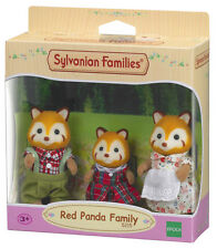 ! nuevo! 5215 conjunto de familia sylvanian families Red Panda Inc 3 figuras niños mayores de 3+