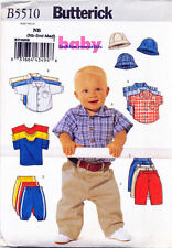BUTTERICK SEWING PATTERN 5510 BABY BOYS SZ NB-M PANTS, SHIRT, T-SHIRT & HAT