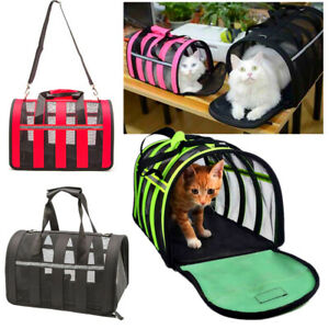 Airline Approved Pet  Carrier Folding Portable Breathable Bag For Dogs Cats