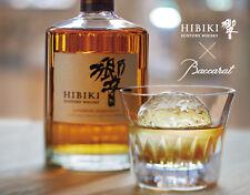 Whisky Crystal tumbler Suntory HIBIKI × Baccarat 18 face cut Gift glass  F/S