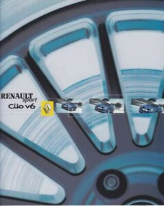 Catalogue RENAULT Sport Clio V6 02/2003 Suisse en Français