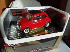 """Fiat 500  F   """"Stradale""""  del 65--Burago  -scala 1-16--colore rosso--Nuova & Box"""