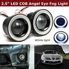 """2x 2.5"""" LED COB Feux De Brouillard Lampe Projector Lens DRL Angel Eyes Kit Auto"""