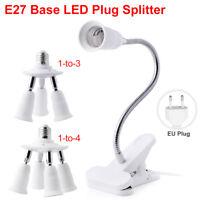 3/4 in 1 E27 Base Socket Splitter Light Lamp Bulb Adapter Converter Holder EU/US
