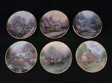 "Thomas Kinkade's Enchanted Seasons Miniature 3 1/2"" Plates (6) 1996"