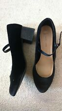 Ladies black wide fit shoes size 8