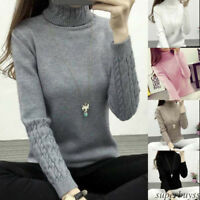 Women fall winter warm cute fashion long-sleeved high-necked three-color tops