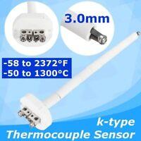 High Temperature K Type Thermocouple For Sensor Ceramic Kiln 2372 °F 1300°C 3mm