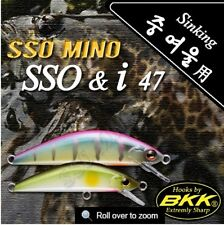 Leurre poisson nageur sinking SSO MINO SSO & I 47 PAYO 47mm BKK pêche truite