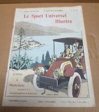 LE SPORT UNIVERSEL ILLUSTRE 1905 salon automobile l'hiver à Monte Carlo