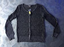 DKNY NEW Womens Long sleeve Black A7 40 metallic sparkle Size M Medium MSRP $195