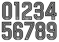 Vinyl 1970's 80's Football Shirt Soccer Numbers Heat Print Football Adidas Z