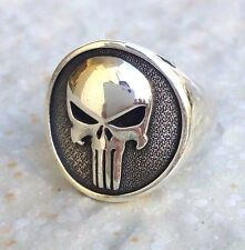 Solid Sterling Silver 925 Heavy 3D The Punisher Skull Handmade Ring