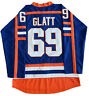 Doug The Thug #69 Glatt Halifax Highlanders Men's Hockey Jersey Blue