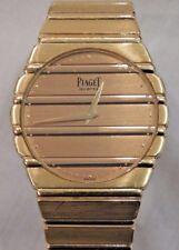 Vintage 18K Yellow Gold Piaget Polo Men's Wristwatch in Original Piaget Box